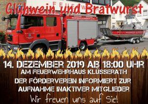 Glühwein und Bratwurst @ Feurwehrgerätehaus